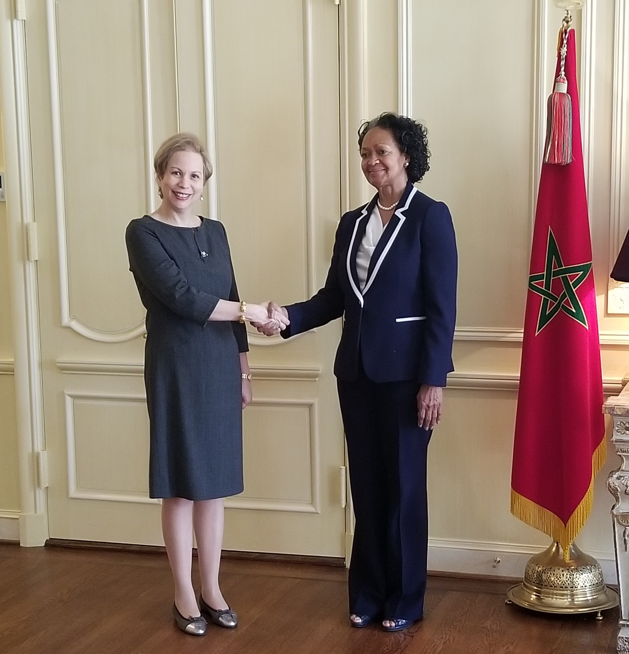 From L to R: Her Highness Princess Lalla Joumala, Ambassador of the Kingdom of Morocco and Florizelle Liser, President and CEO, Corporate Council on Africa